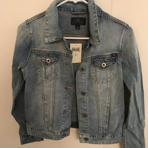 Lucky brand jean jacket w/ embroidered back
